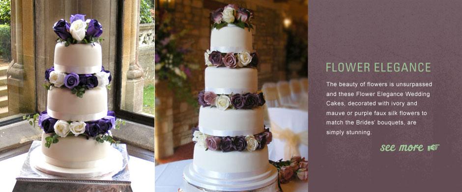Flower Elegance Wedding Cake