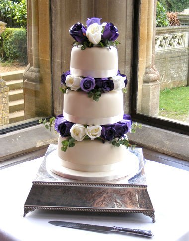 Flower Elegance Wedding Cakes - Cut Above Cake Co.