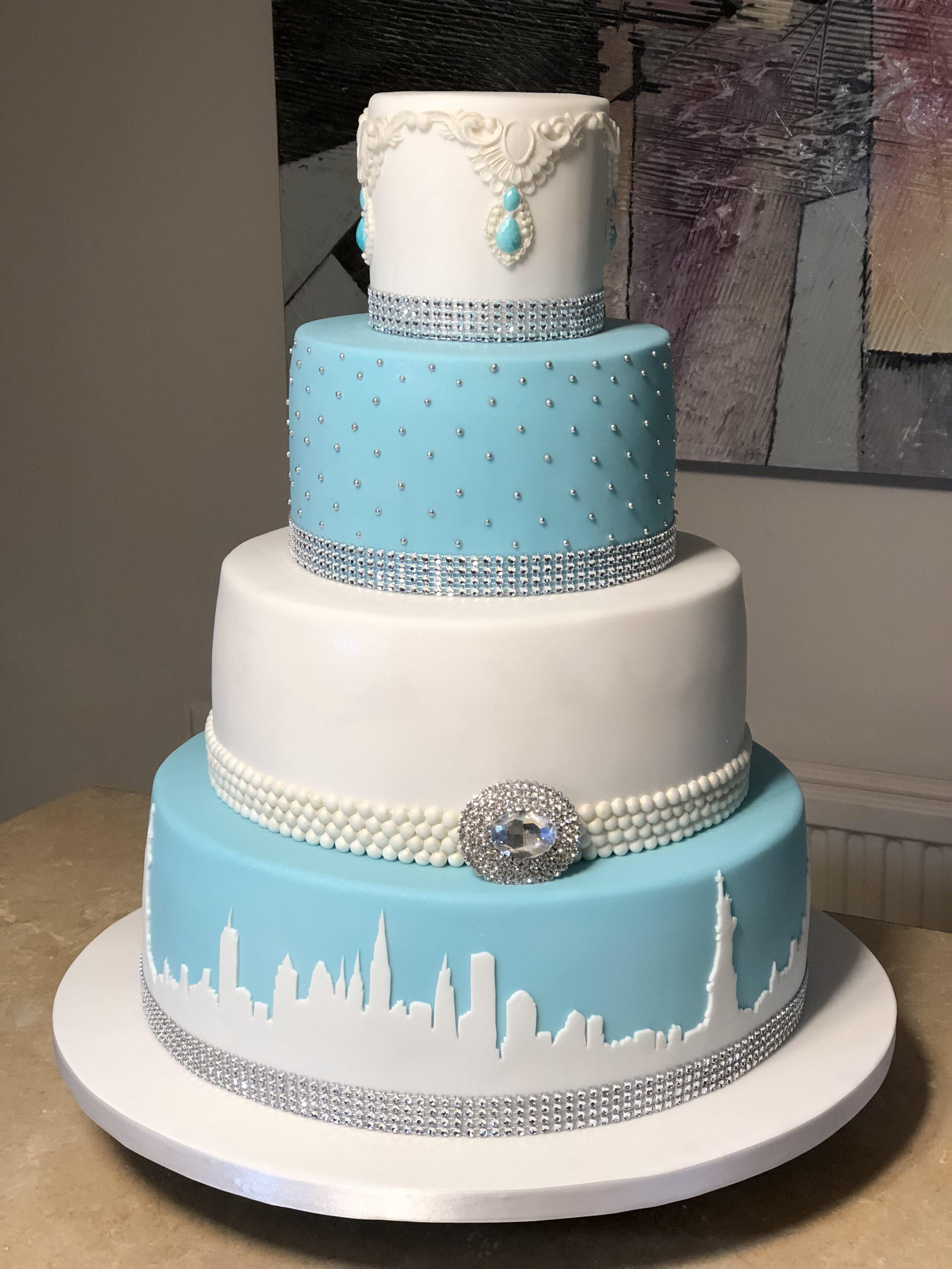 Breakfast at Tiffanys wedding Cake