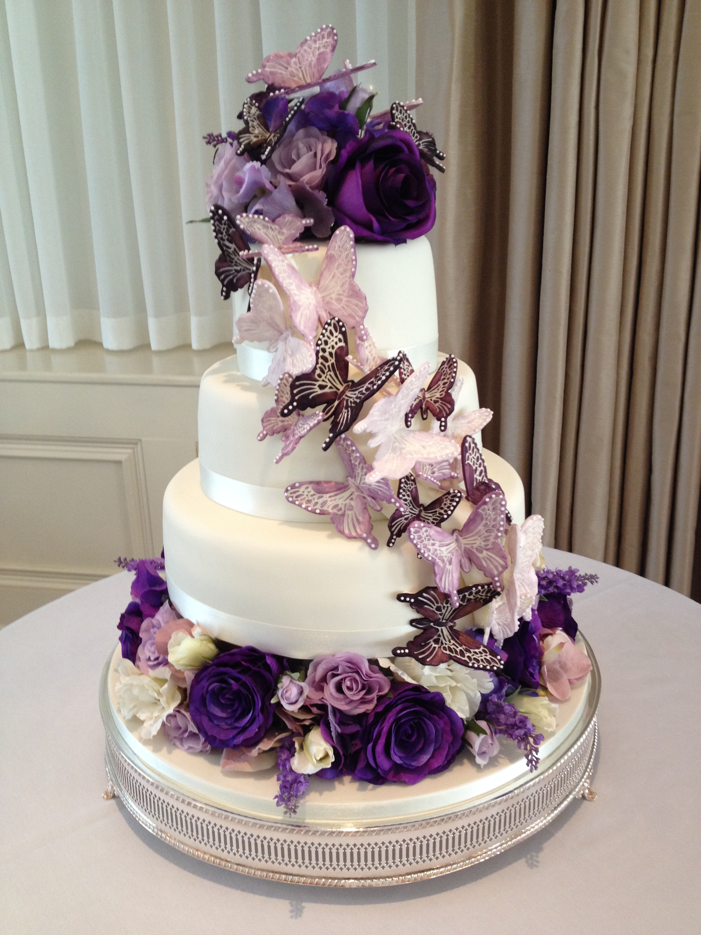 Butterfly Cascade Wedding Cake