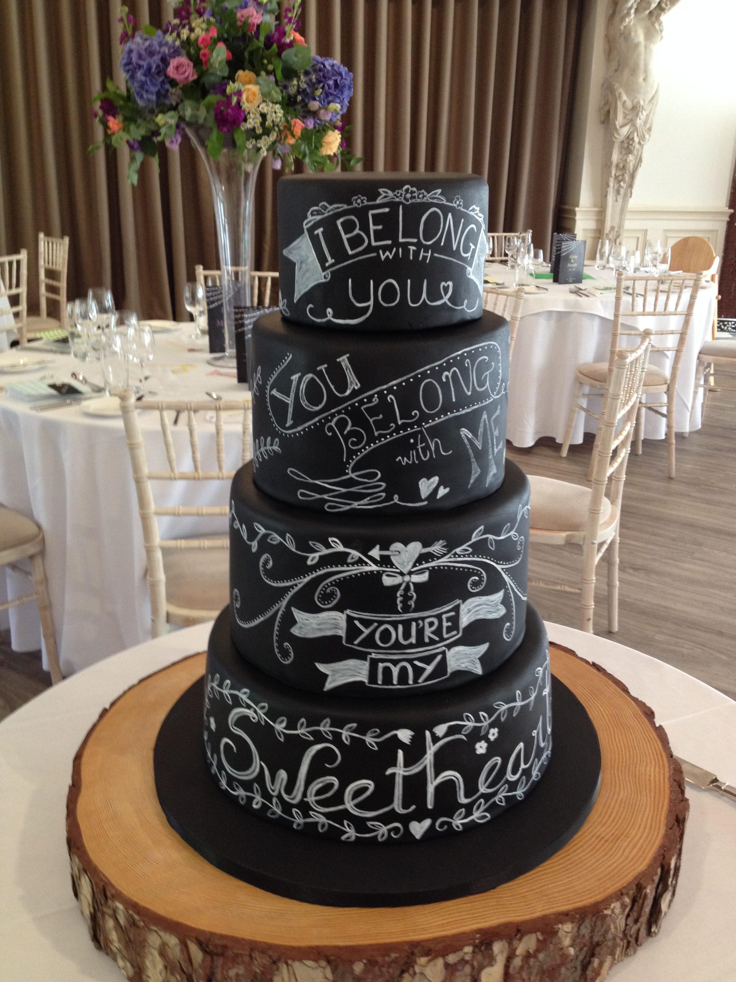 Chalkboard Wedding Cake 1