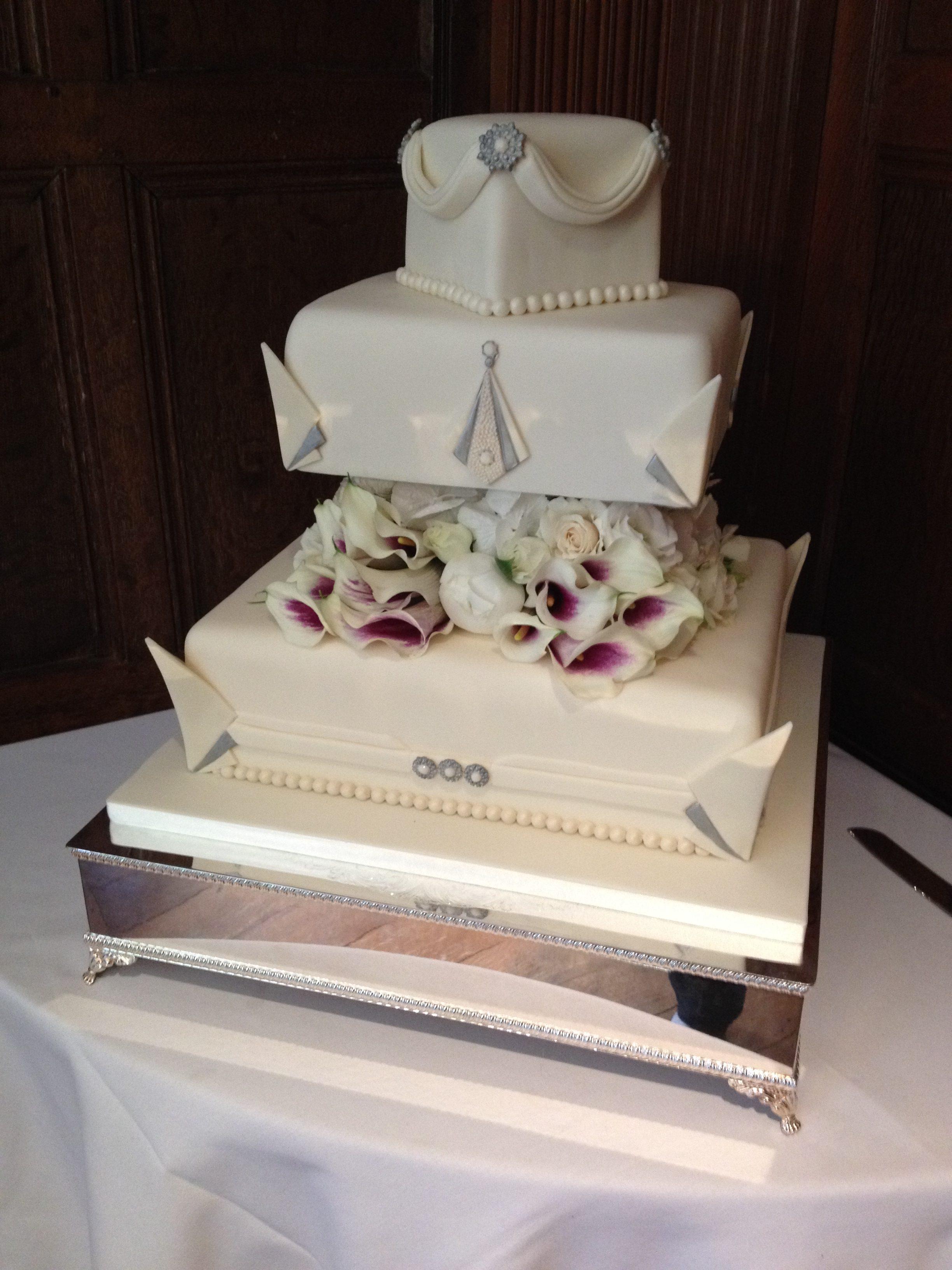 Downtown Art Deco Wedding Cake