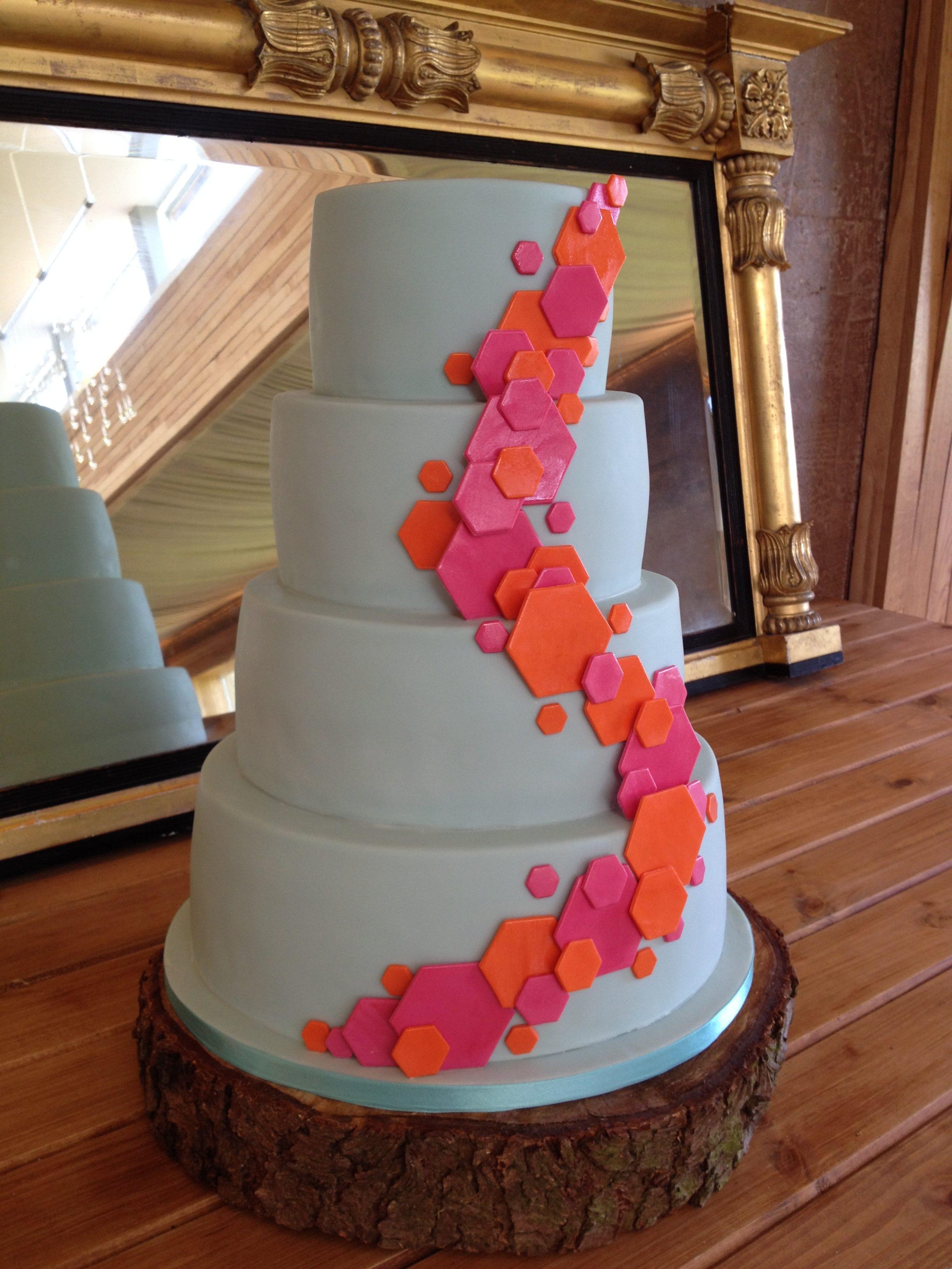 Geometric Cascade wedding cake