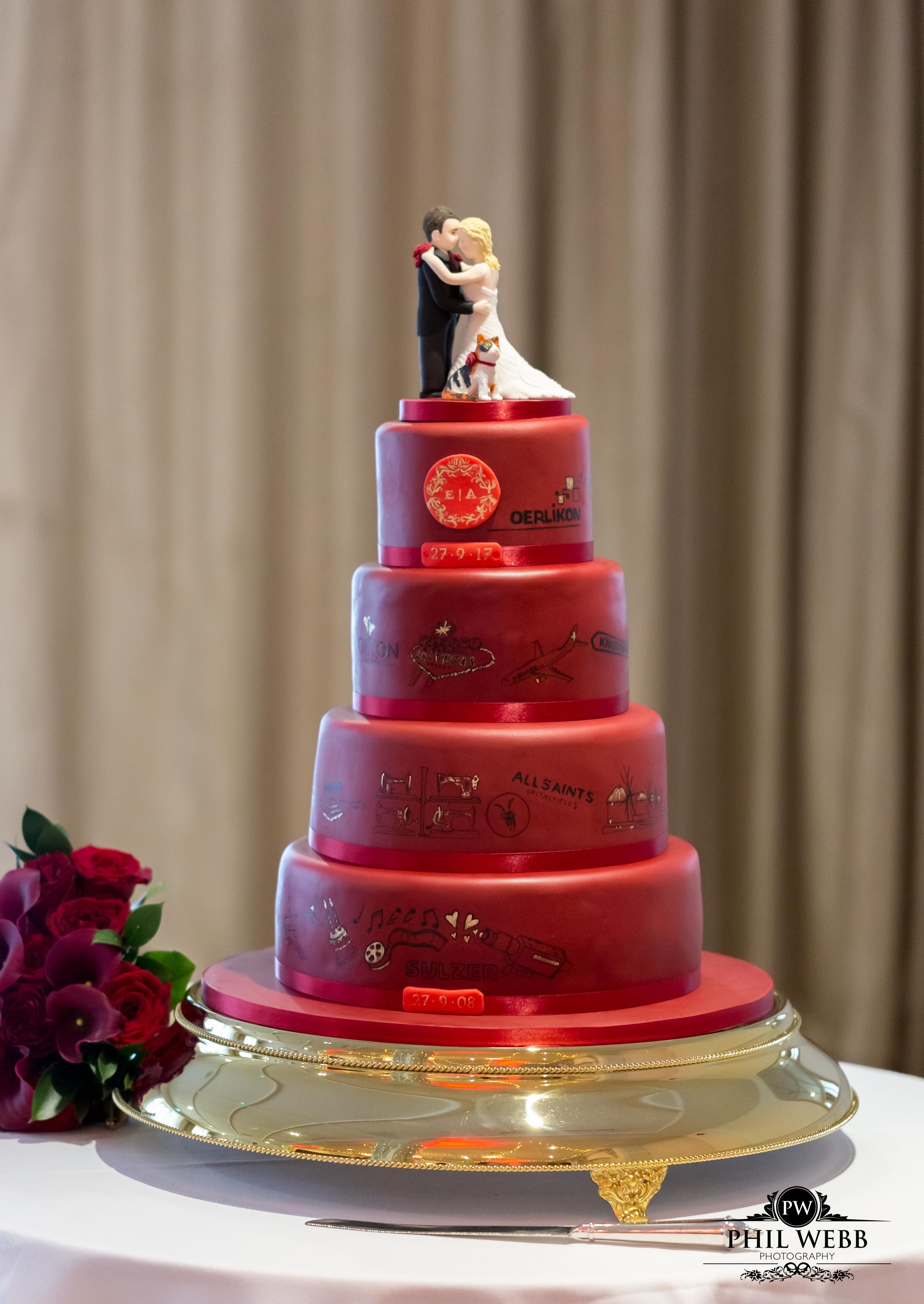 Journey Wedding Cake