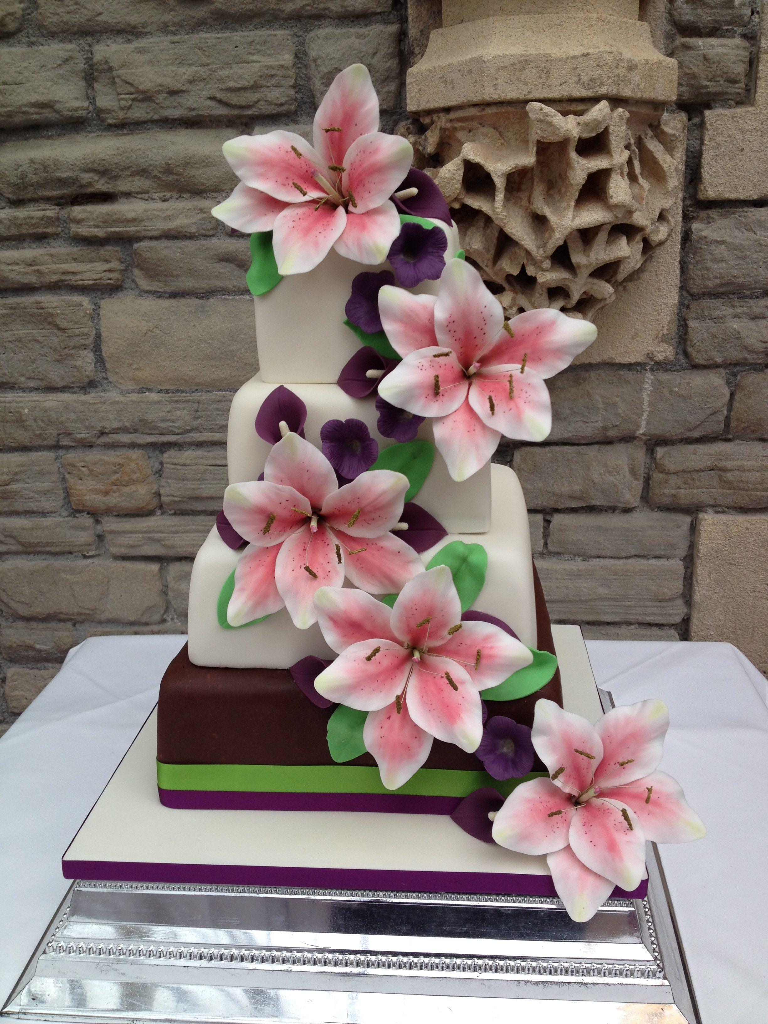 Lily Cascade Wedding Cake