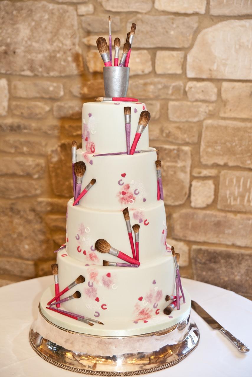 Make-Up Brushes Wedding Cake