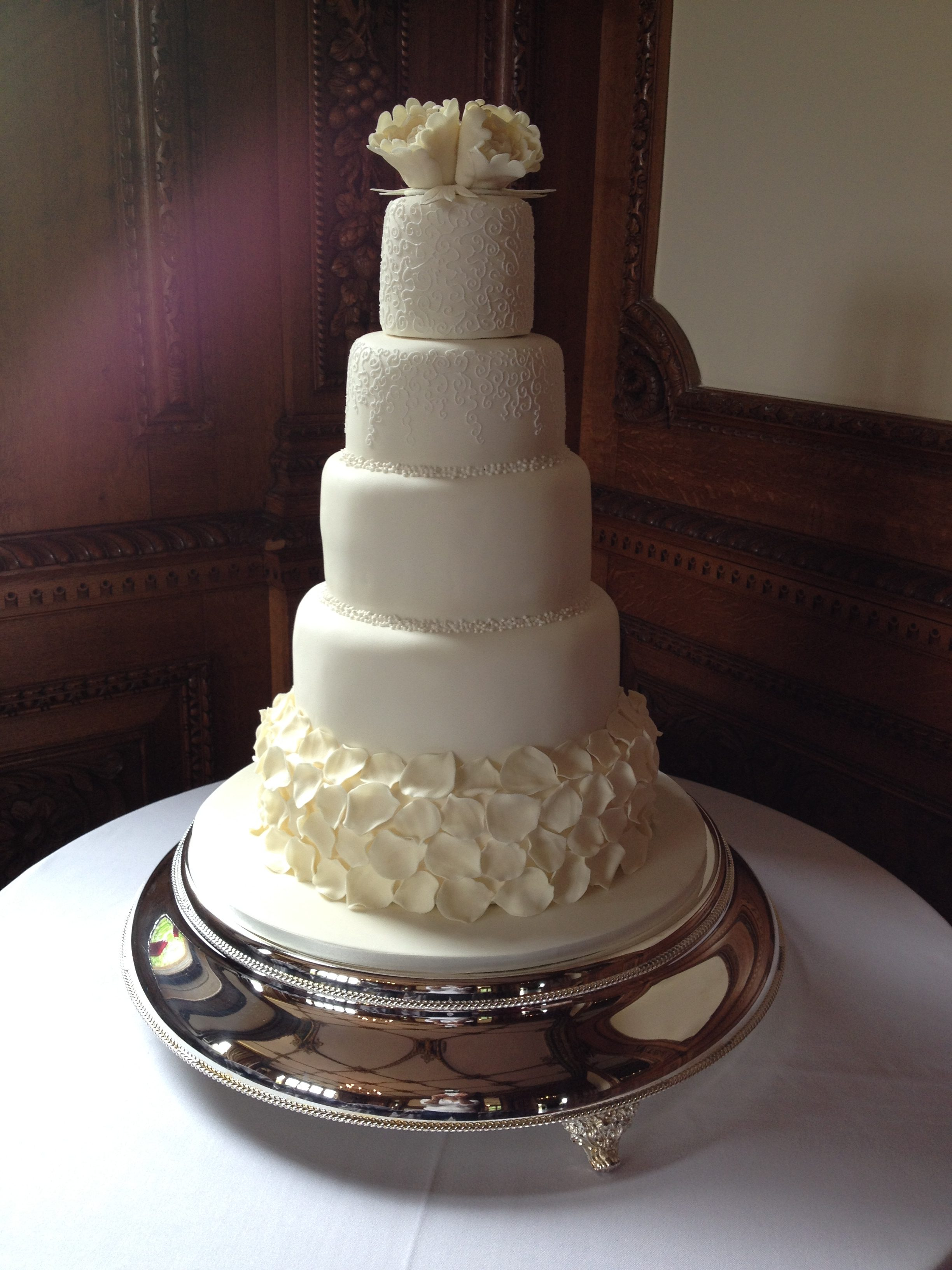 Petals & Filigree Wedding Cake