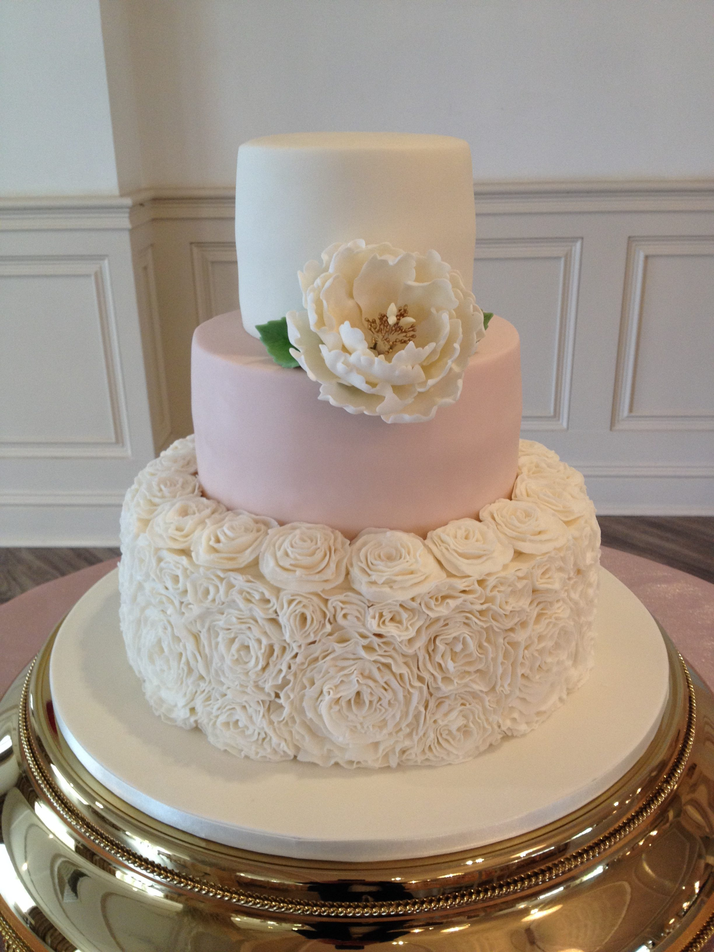 Ruffles, Pink & Peony Wedding Cake