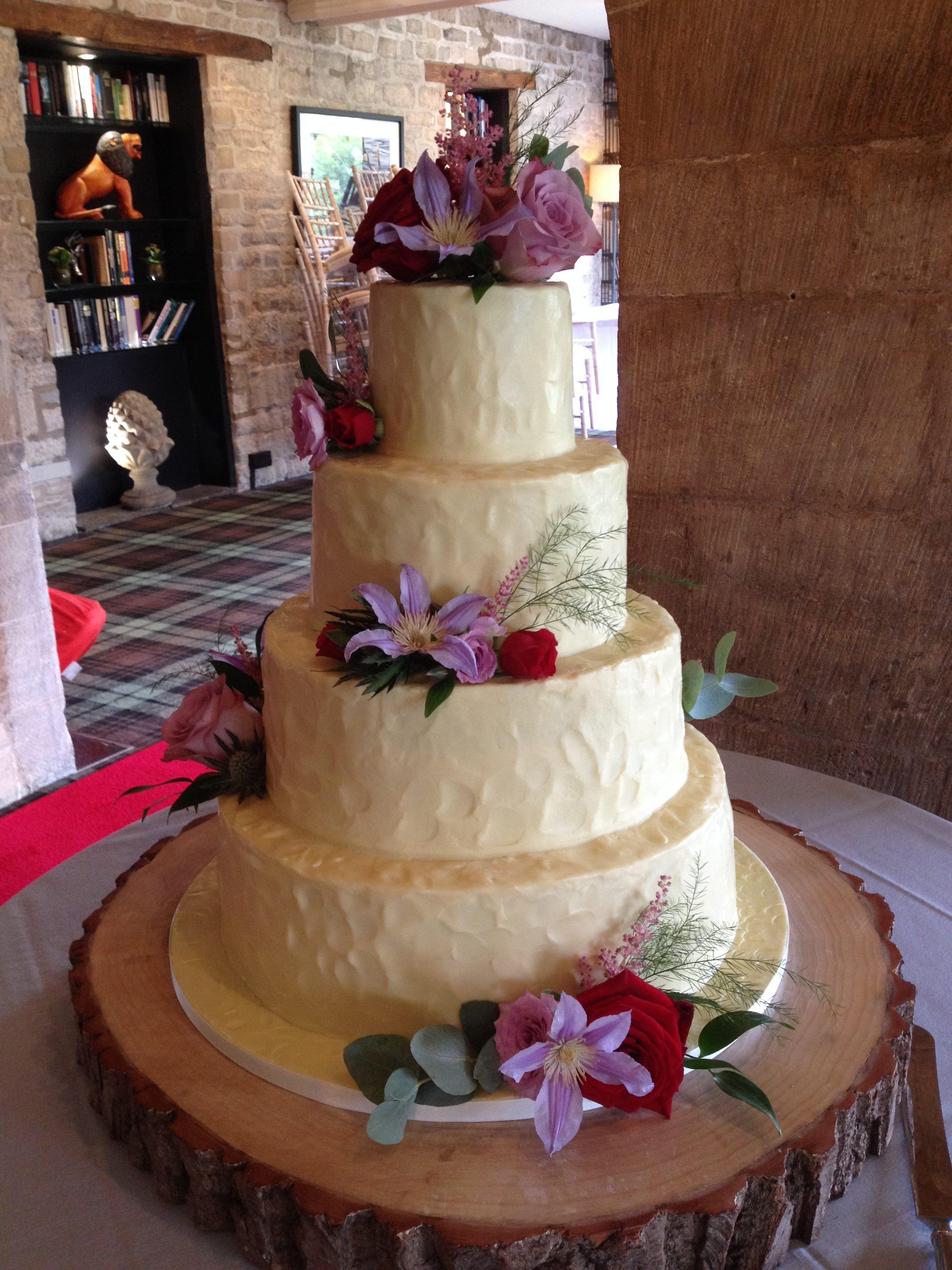 Rustic Ganache Wedding Cake