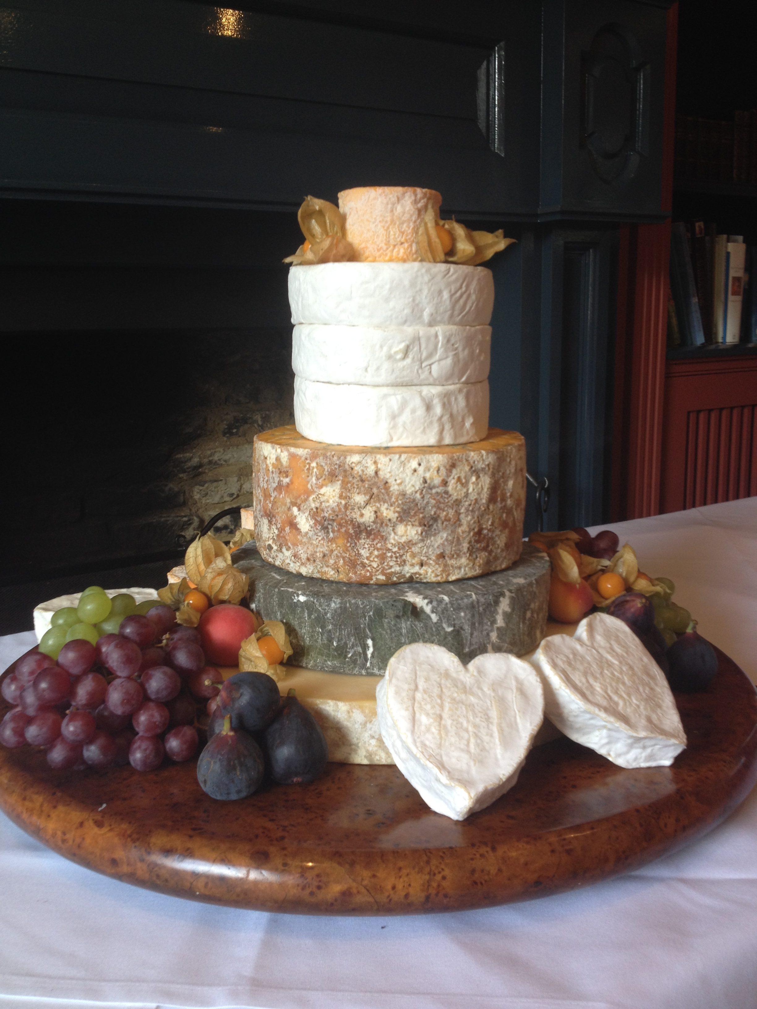 Swan Cheese Wedding Cake
