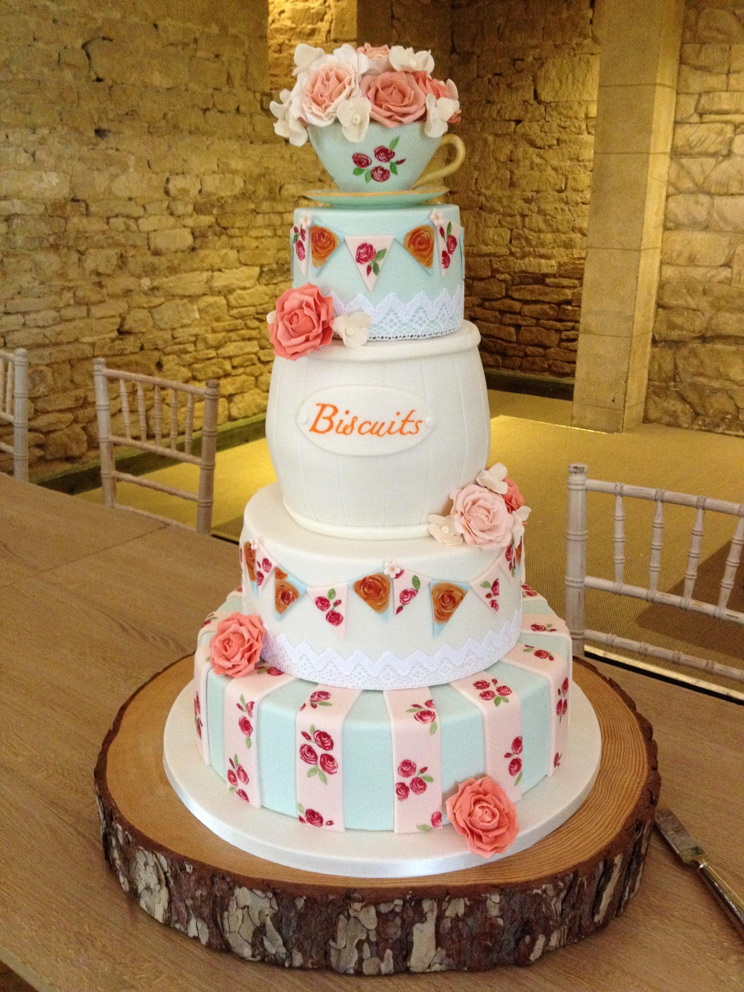 Tea & Biscuits Wedding Cake