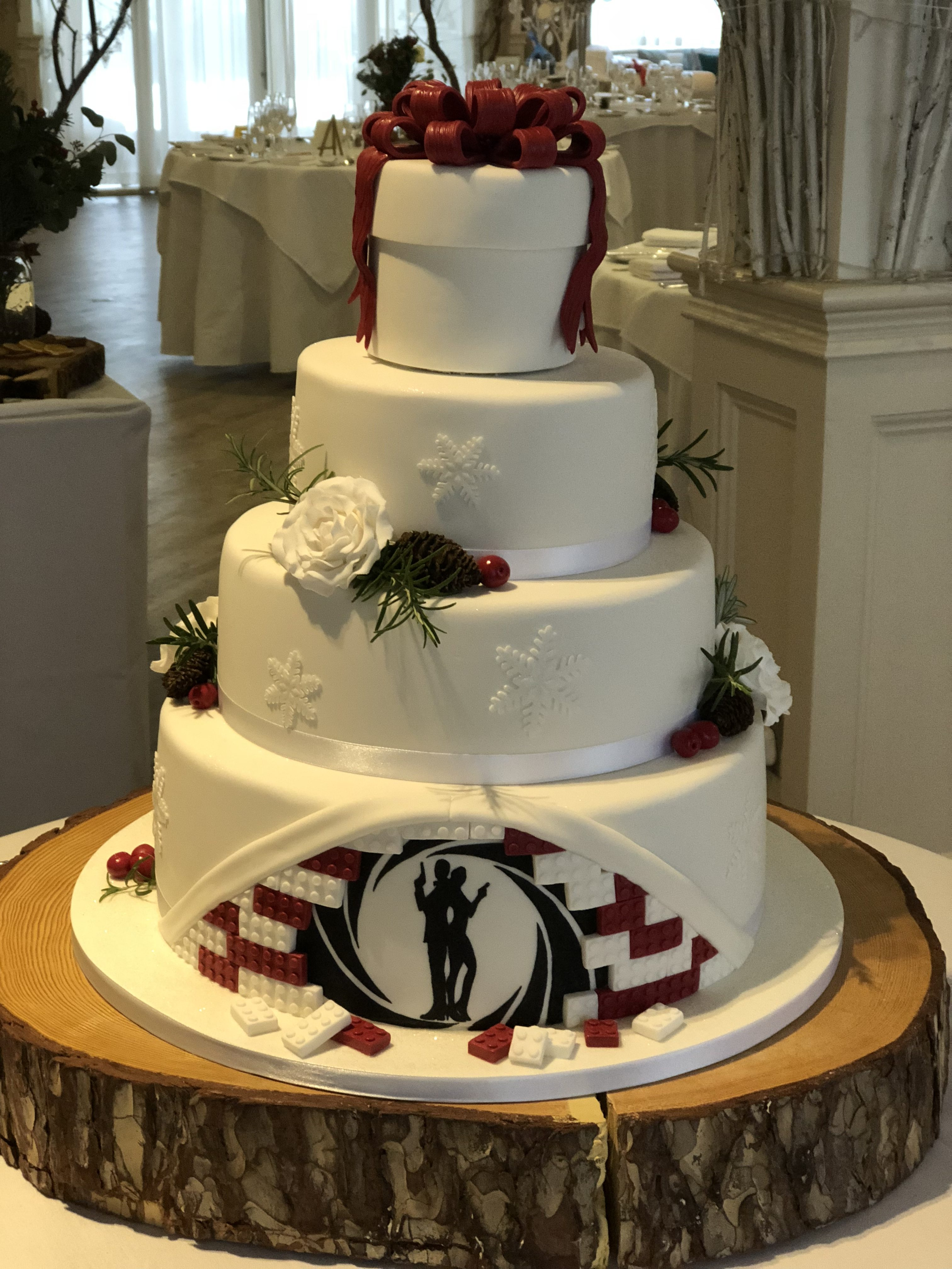 Winter, Rabbit, 007 & Lego Wedding Cake
